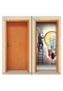 Adesivo Decorativo De Porta - Idéias - 1121Cnpt
