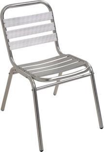 Cadeira De Alumínio Mor Para Áreas Internas Externas Suporta Até 90 Kg