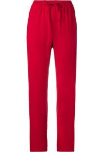 Red Valentino Drawstring Trousers - Vermelho