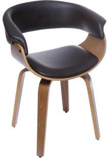 Cadeira Barcelona- Café & Madeira Escura- 78X60X40Cmor Design