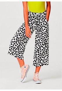 Calça Hering Pantacourt Clochard Viscose Texturizado Feminina - Feminino