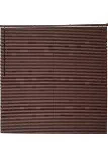 Persiana Wood Pvc 25Mm 100X160 - Evolux - Tabaco