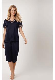 Pijama Joge Capri Azul Marinho