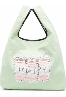 Bapy By *A Bathing Ape® Bolsa Tiracolo Com Aplicação De Paetês - Verde