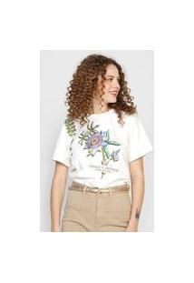 Camiseta Colcci Aprecie A Natureza Off-White