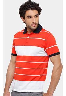 Camisa Polo Blue Bay Listras Masculina - Masculino