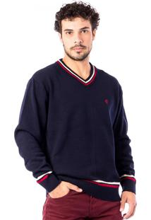 Blusa Tricot Carlan Traditional Brand Decote V