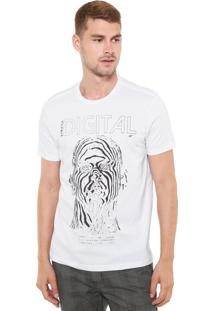 Camiseta Ellus Estampada Branca