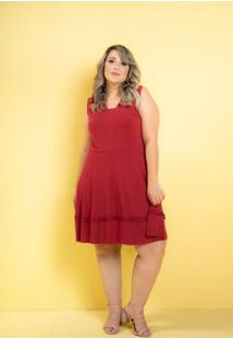 Vestido Curto Dalila Vermelho Plus Size