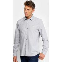Camisa Lacoste Manga Longa Listrada Masculina - Masculino Netshoes 907c5bcca6
