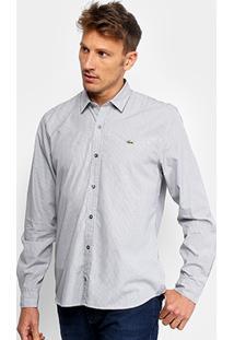24aab0f063007 ... Camisa Lacoste Manga Longa Listrada Masculina - Masculino