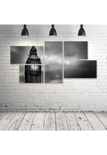 Quadro Decorativo - London-Pb - Composto De 5 Quadros - Multicolorido - Dafiti