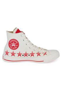 Tênis Converse Chuck Taylor All Star Hi Estrela Amendoa/Vermelho Ct14770002.39