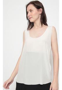 Blusa Em Seda-Off Whiteosklen