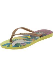 Chinelo Feminino Slim Tropical Havaianas - 4122111 Amarelo 33/34