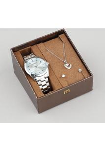 f8484155bd4 CEA. Relógio Mondaine Feminino Analógico Kit ...
