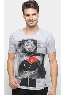 Camiseta Derek Ho Rose Eye Masculina - Masculino-Mescla
