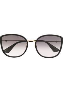 Gucci Eyewear Óculos De Sol Degradê - Preto