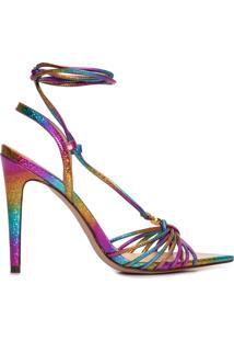 Sandália Feminina Metalizada Rainbow - Rosa