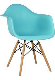 Cadeira Azul Tiffany Charles Eames Wood Daw Em Pp