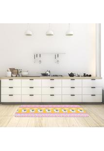 Tapete De Cozinha Mdecore Lhama Colorido 40X120Cm