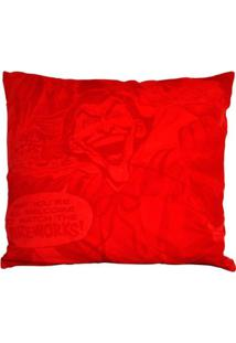Capa Para Almofada - Dc Comics - Joker - Fireworks - Vermelho - 45X45 - Metrópole
