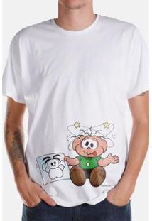 Camiseta Bandup! Turma Da Mônica Kids O Cebolinha Apanhou! - Masculino-Branco