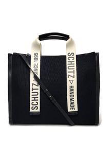 Bolsa Schutz Shopper Bag Lona Preto - S5001002320006