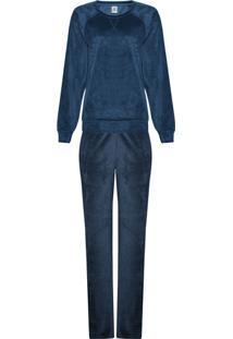 Pijama Feminino Longo Em Plush