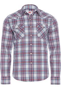 Camisa Masculina Classic Wetern - Vermelho
