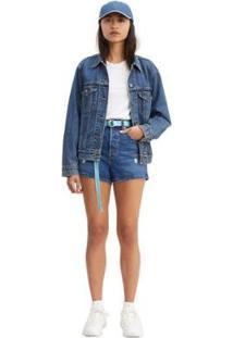 Bermuda Jeans Levis Ribcage Feminina - Feminino-Jeans