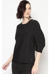 Blusa Listrada- Preta & Branca- Colccicolcci