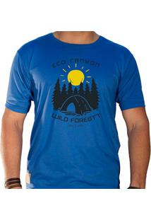 Camiseta Masculina Eco Canyon Wild Forest Azul