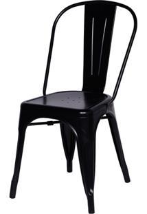 Cadeira Em Alumínio Tommy Preta