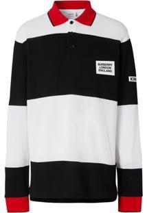 Burberry Camisa Polo Com Bordado De Bandeira Da Inglaterra - Branco