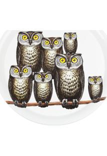 Fornasetti Bandeja Modelo 'Owl' - Branco