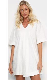 Vestido Osklen Transpasse Mangas - Feminino-Off White