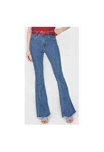 Calça Jeans Lança Perfume Flare Minerva Azul