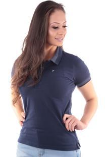 Camisa Polo Cp0719 Regular Traymon Azul Marinho