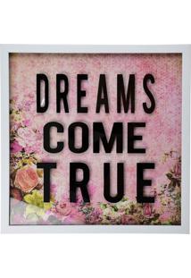 Quadro Dreams Come True Kasa Ideia - Multicolorido - Dafiti