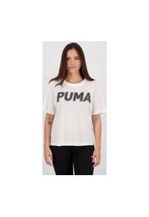 Cropped Puma Modern Sports Logo Feminino Branco