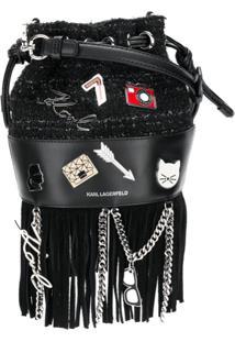 Karl Lagerfeld Bolsa Clutch 'K/Klassik Pins Mini' - Preto