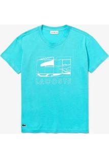 Camiseta Lacoste Sport Feminina - Feminino-Azul Turquesa
