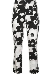 Natori Calça Cropped Com Estampa Floral - Preto
