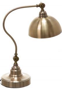 Luminária De Mesa Em Metal Office Classique Bronze