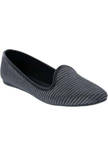 Slipper Liberte Lurex Preto Grafite
