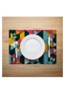 Jogo Americano 2Pçs Abstrato Multicolorido - Mdecore