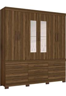Guarda-Roupa Casal Com Espelho Tucson 6 Pt 9 Gv Cedro