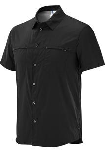Camisa Stretch Masculina Preta M - Salomon
