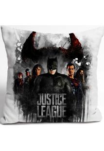 Capa De Almofada Liga Da Justiça 45X45Cm - Urban - Branco / Preto
